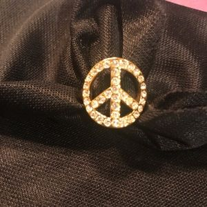 Authentic Coach Peace Ring New